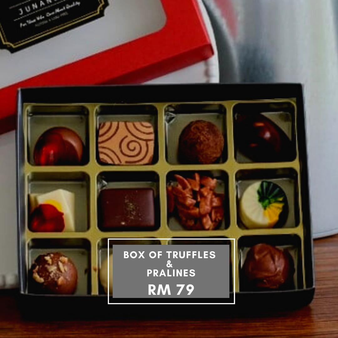Gift Box of Chocolate Truffles & Pralines